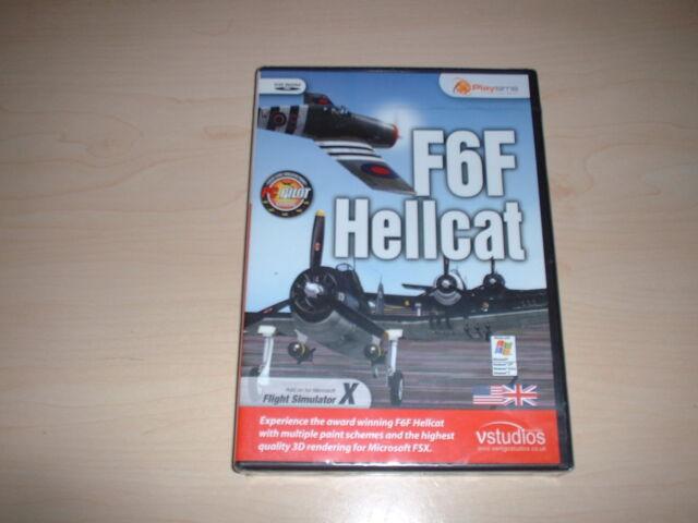 ✈️ FSX GRUMMAN F6F HELLCAT ~ FLIGHT SIMULATOR X FSX ADD-ON *NEW SEALED*