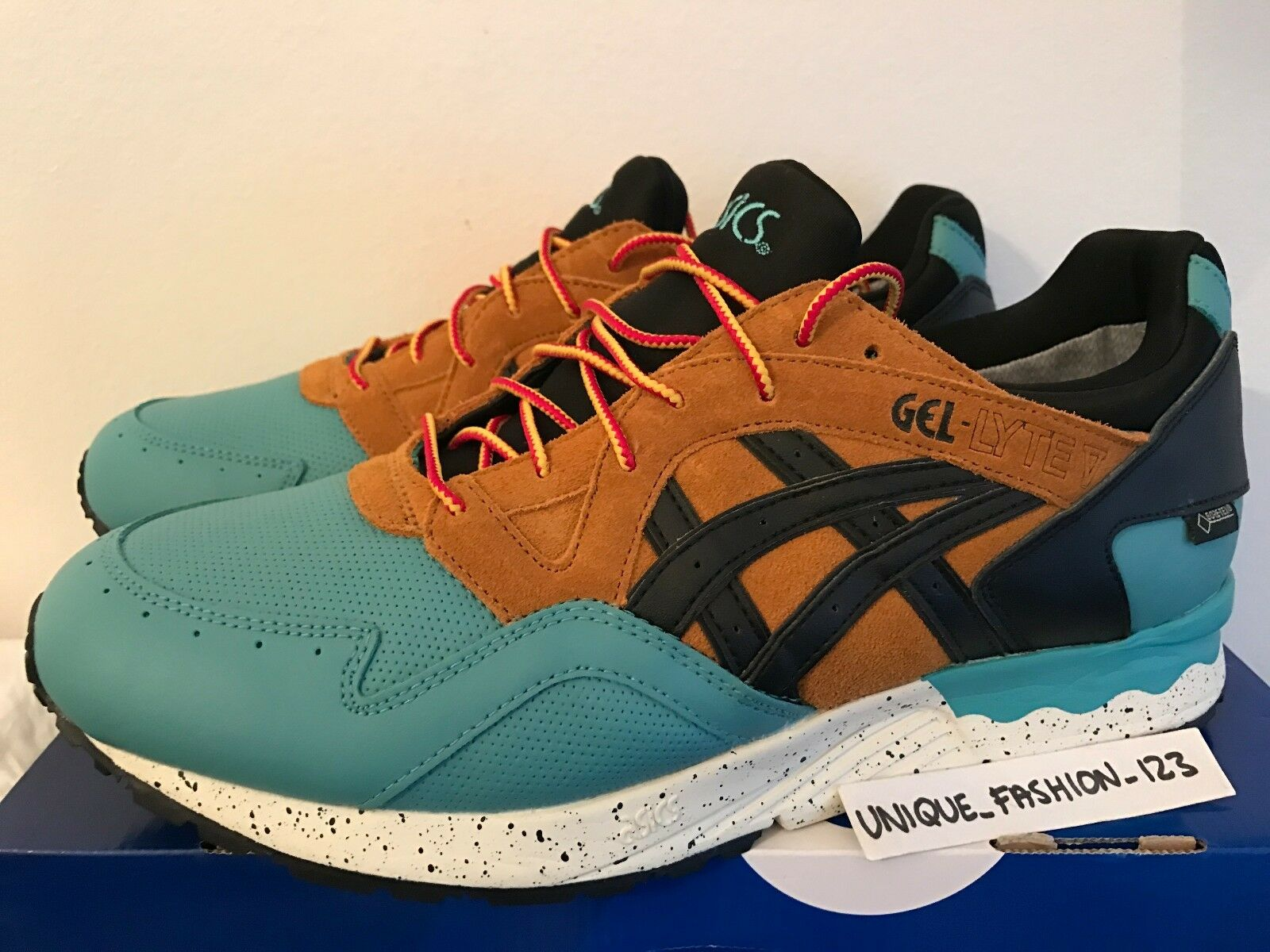 5d012d8d5405 ASICS GEL LYTE V 5 GORETEX US 11 11 11 GORE-TEX KINGFISHER ORANGE BLUE