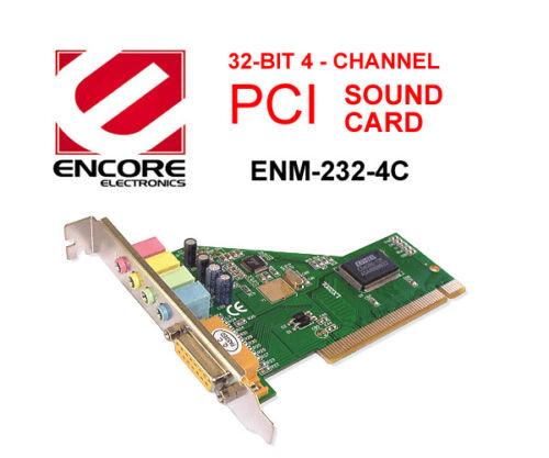 4 Channel,PnP Encore PCI SOUND CARD ENM232-4C 32-Bit
