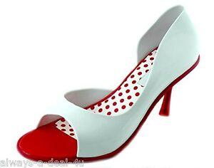 Melissa-Grendene-Spice-Red-amp-White-Brazilian-Women-039-s-Shoes-Size-7