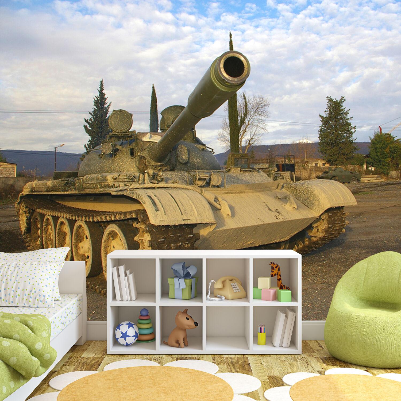 War Military Army Tanks Wall Paper Mural Wallpaper 3000mm X 2400mm -  WMO-195