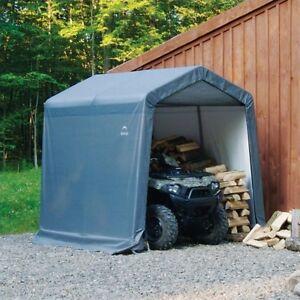 ShelterLogic Shed-In-A-Box Grey Peak Sheds Garages Outdoor
