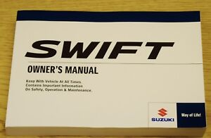 genuine suzuki swift 2017 2018 owners manual handbook audio main rh ebay ie suzuki owners manuals free download suzuki owners manual dr350 pdf