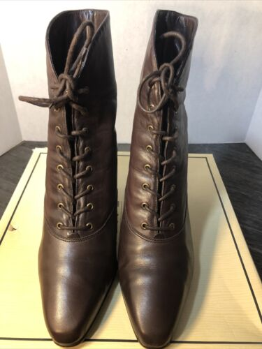 "Nine West""Callahan"" Lace Up Boots Brown 7M  Preown"