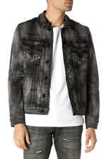 Rock Revival Men Luciano Denim Jacket Black Studded Distressed Sz 3xl Thespot917