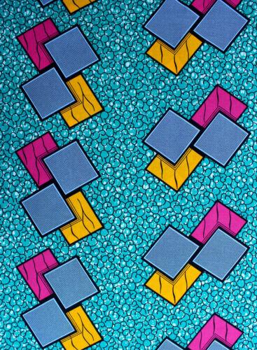 African Wax Print qualité supérieure en tissu de coton 4 Crafts /& robes par yard