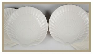 MIKASA-COUNTRY-MANOR-WHITE-2002-07-SET-OF-4-ACCENT-SALAD-PLATES-8-3-4-034-SHELL