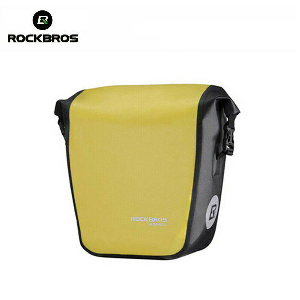 ROCKBROS Impermeable Bicicleta Bolso 10-18L portátil bolsa bicicleta posterior bolsa de maletas Amarillo