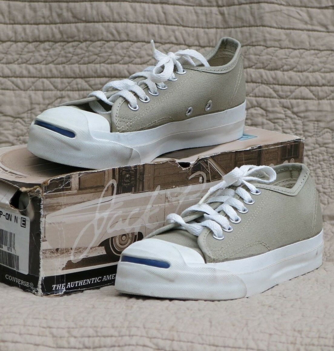 Converse Jack Purcell Tennis shoes Made U.S,A, New Old Stock Men s 4.5 Beige