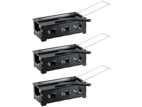Rosenstein /& Söhne 3 appareils à raclette à bougie pour 2 personnes