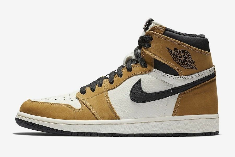 Nike Air Jordan 1 Retro High size 13. Tan Black. Rookie of the Year. 555088-700