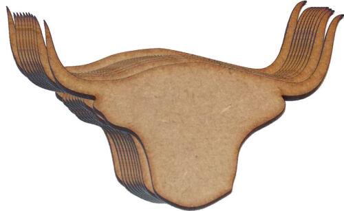 Paquete De 10 cabezas de vaca Highland espacios en blanco de MDF de 150mm Ideal Para Placas escocés diciendo