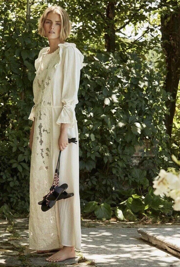 Libre People Antik Batik  400 robe longue S Neuf Avec Étiquettes Boho Main Brodé