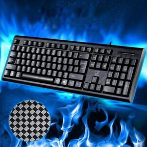 Waterproof-Mechanical-104-Keys-PS-2-USB-Wired-Keyboard-Computer-Laptop-Desktop