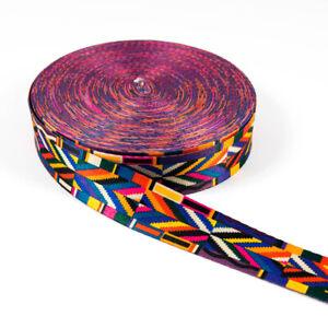 Correa-Cenefa-3-8cm-Ancho-Boho-Style-Grafico-Dessin-Colorido-Correa-Bolso