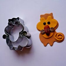 Squirrel stainless steel cutter for cookies, fondant 4 pcs set. Cortador ardilla
