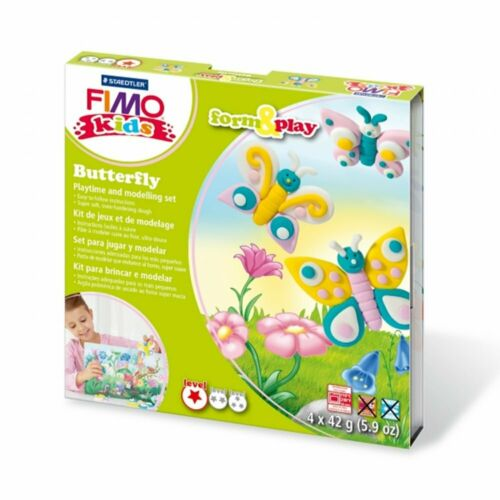 SET Butterfly Fimo Kits For Kids Form /& Play Polymer Modelling Oven Bake Clay