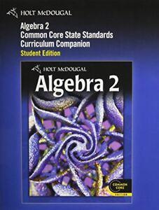 Details about Holt McDougal Algebra 2: Common Core Curriculum Companion  Student Edition 201…