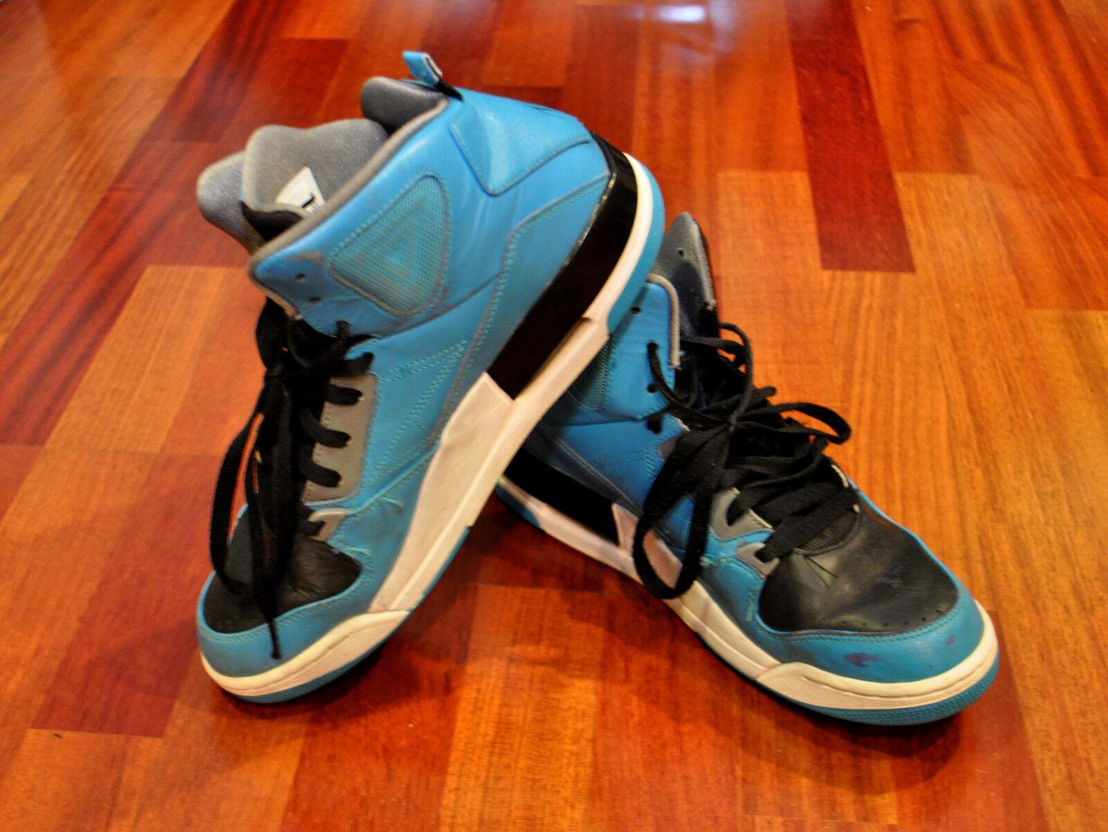 Nike jordan volo hightop scarpe 629877 bianco nero nero nero blu grigio sz 9,5 | Esecuzione squisita  | On-line  | elegante  a46941