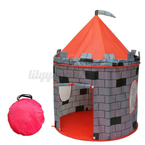 US Portable PopUp Play Tent Kids Girl Princess Castle Outdoor Play Durable House