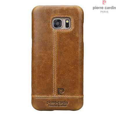 Pierre Cardin Genuine Leather Slim Case Skin Cover For Samsung Galaxy S7 Edge