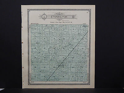 1911 Stonington Township L17#97 A Great Variety Of Models Christian County Map Fine Illinois
