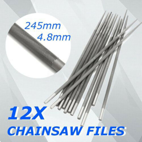 """12pcs 3//16/"""" 4.8mm Round Chainsaw Saw Chain Files Filing Sharpener For Woodwork"""