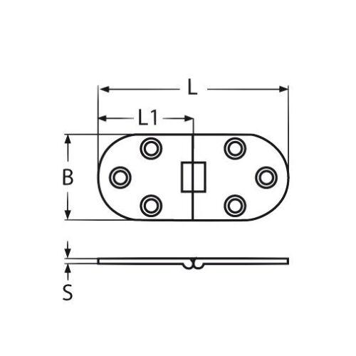 1 pièces en acier inoxydable charnière türband CHARNIERE Acier Inoxydable Charnière saisir v2a