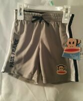 Boys Shorts Workout 18m Paul Frank Kid Childrens Clothes Gray White Black Monkey