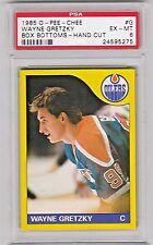 1985 O-Pee-Chee Box Bottoms #G Wayne Gretzky Oilers Hockey Card PSA 6 EX-MINT