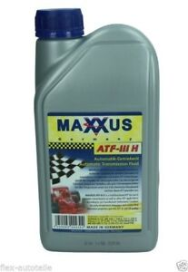 Maxxus-1L-Huile-de-Mecanisme-direction-HYDRAULIQUE-ATF-III-H-ROUGE-FORD-VW