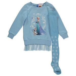 DISNEY-ensemble-LA-REINE-DES-NEIGES-Elsa-robe-collants-5-6-ou-7-8-ans-NEUF