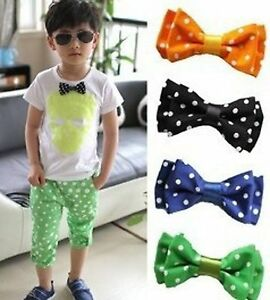 1PC-Boy-Kids-Children-Party-School-Wedding-dance-bow-tie-Necktie-bowtie-WITH-PIN