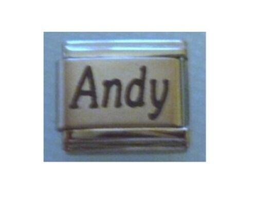 9mm Classic Tamaño Italiano Dijes Nombres-nombre Andy