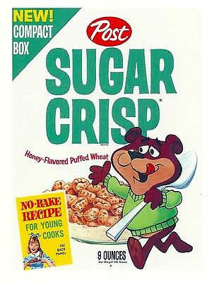 SUGAR CRISP Cereal Box Retro Vintage HQ  Fridge Magnet *02