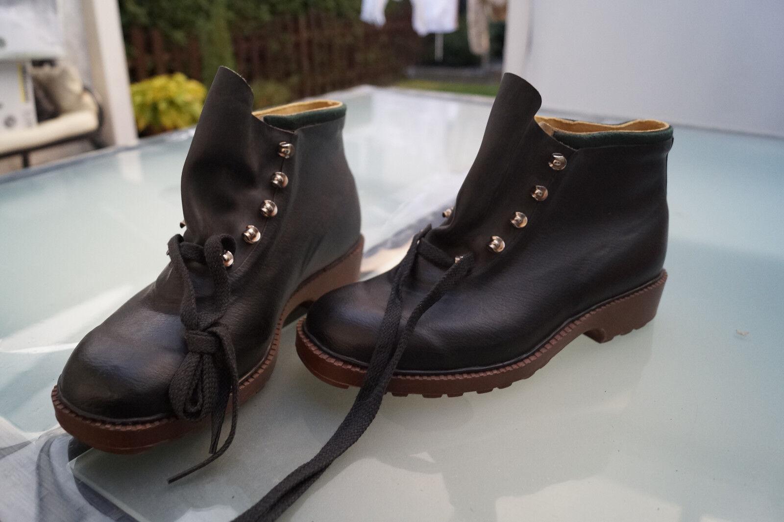 Robusta cuero Romika señora botas zapatos con cordones cuero Robusta negro nuevo C cc5201