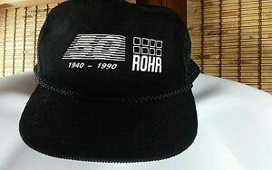 2eaf56cece193 ROHR SNAPBACK Cap SAN DIEGO CA BLACK CORDUROY BASEBALL Hat 50TH ANN ...