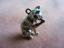 VINTAGE STERLING SILVER CHARM  CAT