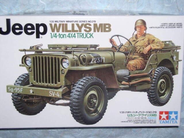 Tamiya 1/35 U.S. Jeep Willys MB Model Vehicle Kit #35219