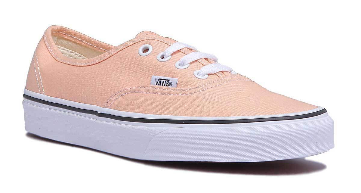 Vans Authentic Damens Canvas Bleached Apricot True WEISS Trainers UK Größe 3 - 8