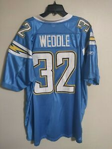 Details about LA/San Diego Chargers Eric Weddle Powder Blue Stitched NFL Football Jersey - 54