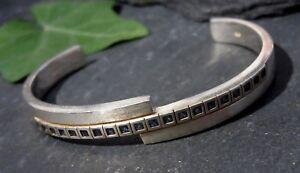 Moderner-925-Sterling-Silber-Armreif-Armspange-Esprit-Blaue-Steine-Matt-Designer