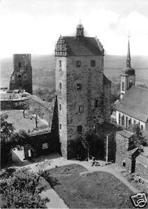 AK-Stolpen-Sachs-Burg-Seigerturm-Kirche-1969
