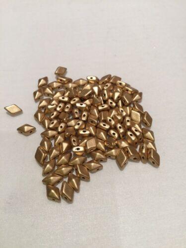 Cristal Checo diamonduo cuentas X32 Oro Mate Metálico