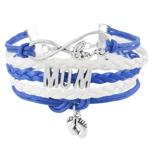 LP 1 Damen Wickelarmband Armband Anhänger Lederarmband Buchstaben M11670