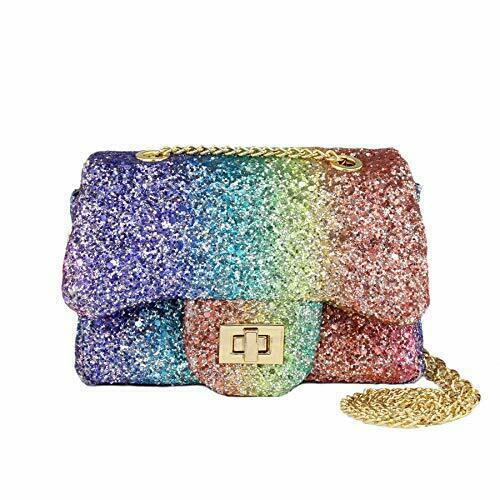 Sparkly Glitter Toddler Kids Purse for Girls,Quilted Little Girl Purse Party Bag