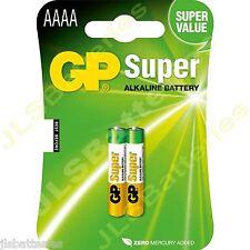2x AAAA GP SUPER Batteries MN2500 1.5V E96 LR8D425 Alkaline battery