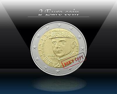 SLOVAKIA 2 € commemorative euro coin 2019 Milan Rastislav Stefanik UNC coin