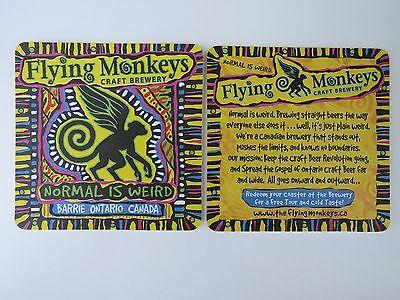 FLYING MONKEYS CRAFT BREWERY Canada BEER MAT COASTER SOUS-BOCK BIERDECKEL