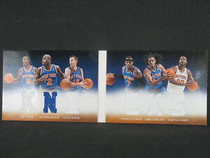 Carmelo Anthony JR Smith 2012-13 Panini Knicks Six Jersey